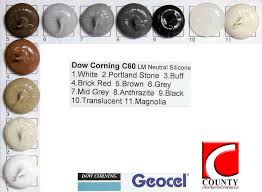Dow Corning C60 Low Modulus Silicone Sealant Colours