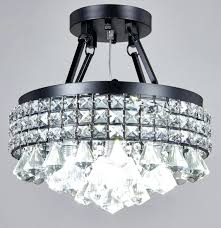 crystal flushmount chandelier chrome flush mount lighting fixtures candice and semi