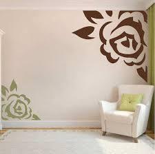 corner wall decor awesome corner rose vinyl wall art design