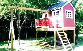 wooden playhouse kits backyard diy free plans