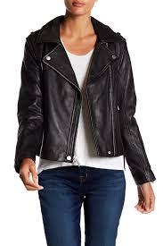 bcbgeneration missy leather side lace up jacket nordstrom rack