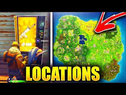 Tap Vending Machine Locations Inspiration NEW ALL 'VENDING MACHINE' LEGENDARY Locations In Fortnite 48