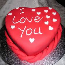 heart shape i love you cake cakes delivery jaipur rajasthan