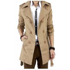 2016 trench coat men classic double ted mens long coat masculino mens clothing long jackets a