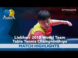 2018 world team championships highlights ma long vs hugo calderano group you