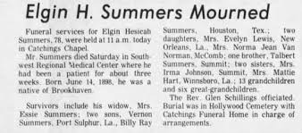 Obituary for Elgin Hesicah Summers (Aged 78) - Newspapers.com