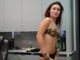 Asian strips dances masturbates comes