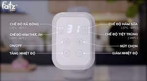Máy hâm sữa và tiệt trùng điện tử Fatzbaby Mono 7 (FB3010TN) - META.vn