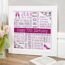 personalized 70th birthday present for her