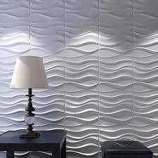 3d wall panels plant fiber white for