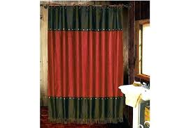 lake house shower curtains log cabin themed curtain hooks western wilderness rules