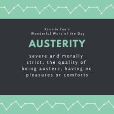 fancy word for green kimmie tees wonderful word of the day austerity 102 9 kblx