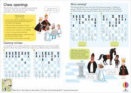 there are more brain teasing puzzles useful facts and clever tips that show how to play chess and improve your game in the usborne chess book