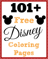 Over 101 Free Disney Coloring Pages