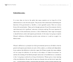 federalism essay a level politics marked by teachers com document image preview