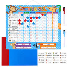 Performance Chart For Students Toymytoy Reward Chore Chart Magnetic Reward Board 24 Magnetic Chores 200 Magnetic Stars 2 Color Dry Erase Markers Storage Bag Responsibility