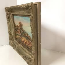 ornate wood frame fall landscape rustic