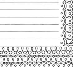 Lined Paper Pdf Cool Lined Writing Paper Stationery Page Printable Adult Coloring Etsy