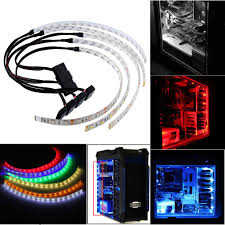 Computer Case Led Light Strips Waterproof 60cm Bright Flexible 5050 Smd 18 Led Case Strip