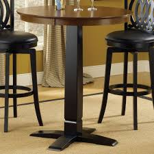 dynamic design wood bistro pub table in brown cherry black