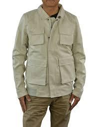 alpinestars mens daikanyama faux leather jacket medium dirty white com