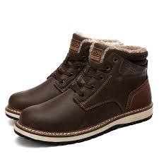 Fashion <b>Men</b> Winter Snow Boots Warm Boots Snow Work Shoes ...
