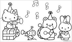 Free printable hello kitty coloring page s ,here you can download hello kitty color pages plates of all your favorite hello kitty coloring p. Hello Kitty Music Coloring Page Hello Kitty Colouring Pages Hello Kitty Coloring Kitty Coloring