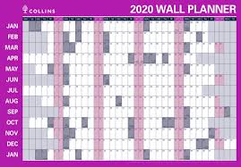 Debden Laminated Wall Chart Planner Double Sided 700mm X