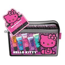o kitty cosmetics bag with juicy lip s