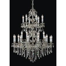 starfire crystal imperial collection 24 light chandelier shown in antique silver 5124hq