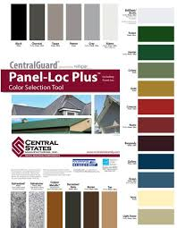 Central States Metal Color Chart Rare Central States Panel Loc Plus 2019