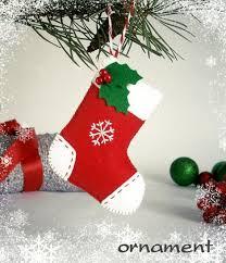 Christmas ornament Stocking felt ornaments Christmas tree ornaments felt  decoration Christmas Stocking felt toy for Advent calendar