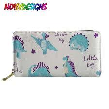 <b>NOISYDESIGNS Dinosaurs</b> Women Long Wallet Zipper Mini Girl ...