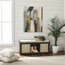better homes and gardens 3 cube organizer bench