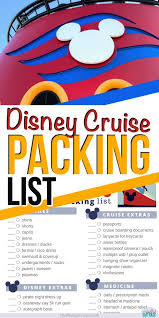 Important Things To Pack Disney Cruise Packing List