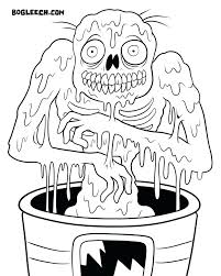 scary zombie colouring pages coloring many interesting 2