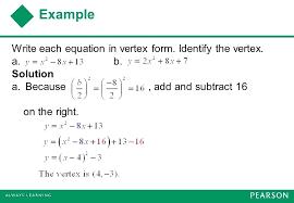 how to write a quadratic equation in vertex form math how to write quadratic equations in vertex form mathpapa app