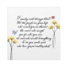 Family Isn T Always Blood Quotes Delectable Family Isn't Always Blood Handwritten Quote Plaque Zazzle
