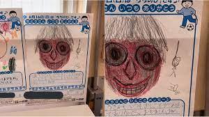 Bức tranh của bé 5 tuổi gửi tặng cha, nhưng nhìn kĩ góc phải phát hiện điều  bí ẩn