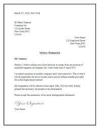 resignation letter template word format for resignation letter