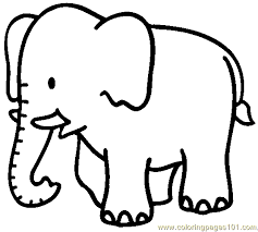 Small Picture Elephant Coloring Page 04 Coloring Page Free Elephant Coloring