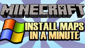 how to install a minecraft map on windows in  seconds  youtube