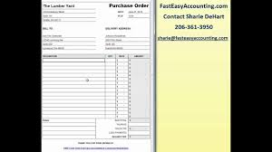 Free Purchase Order Template Excel Free Contractor Purchase Order Template On Excel Download By Fast Easy Accounting
