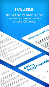 Resume Builder Resume Creator IPA Cracked For IOS Free Download Delectable Resume Creator App
