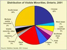 Canada Population Pie Chart Visible Minorities And Ethnicity In Ontario