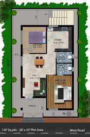 Plan Floor Plans And House Ideas 2 Bhk Small Design Gallery At 800 Plans North Facing House Plans With Elevation L