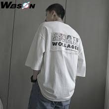 Wbson летние свободные футболки с принтом Для мужчин ...