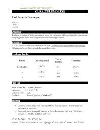 It Fresher Resume Format Download Nfcnbarroom Com