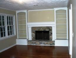 built in shelves around brick fireplace home design ideas