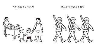 谷川俊太郎noritakeの絵本へいわとせんそう 平和と戦争の状況を比較